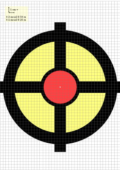 image relating to Printable Zeroing Targets referred to as Goals for printing guns@ptosis